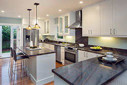 Denver Coloradowhite cabinets Granite kitchen Stone City LLC