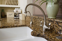 white undermount sink Granite kitchen Stone City LLC